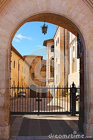 Italian city Assisi, monastery of St. Francesco