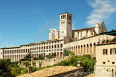 Italian city Assisi, monastery of st  Francesco