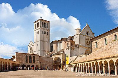 Italian city of Assisi, monastery of st  Francesco
