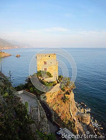 Italian coast with castle