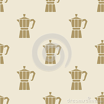 Free Italian Coffee Maker Moca Pattern Tile Background Seamless Stock Images - 66676974