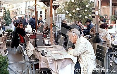 Italian coffee and tea bar Editorial Photography
