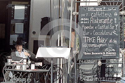 Italian coffee and tea bar Editorial Stock Image