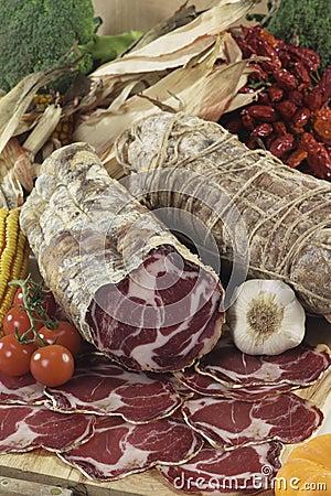 Italian coppa di Parma salami