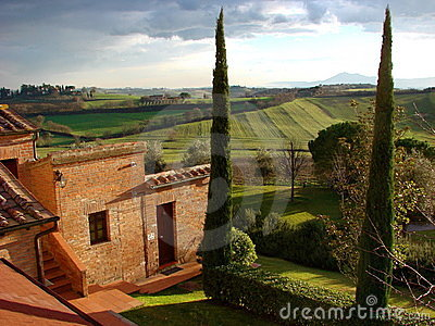 Italian country villa Tuscany