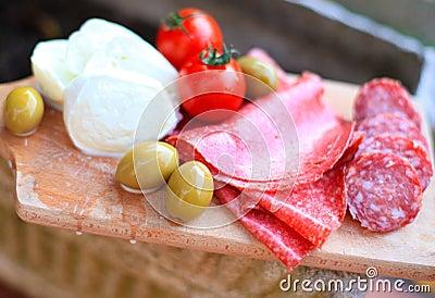 Italian cuisine. Gourmet food