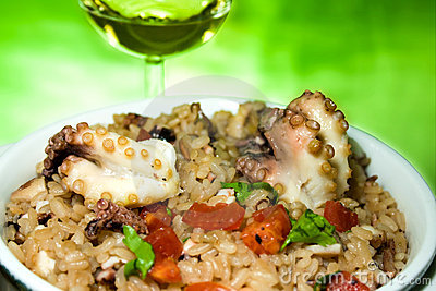 Italian Cuisine - Risotto With Octopus