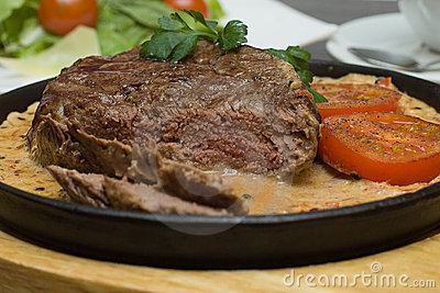 Italian cuisine - steak with pepper