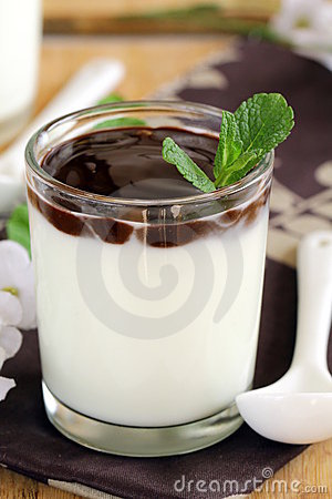 Italian dairy dessert Panacotta