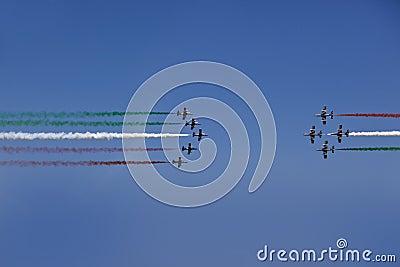 Italian demoteam Frecce Tricolori