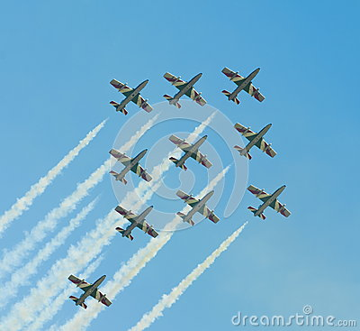 Italian demoteam Frecce Tricolori Editorial Photo