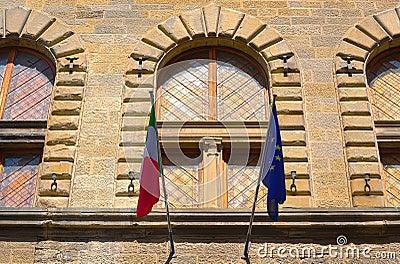 Italian And EU Flags