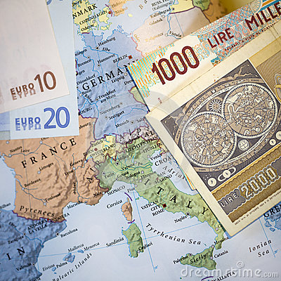Free Italian Euro Currency Exit Concept Stock Image - 85628511