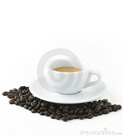 Italian Expresso With Beans - Clipping Path