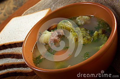 Italian Farm-style Soup With Broccoli Stock Images - Image ...