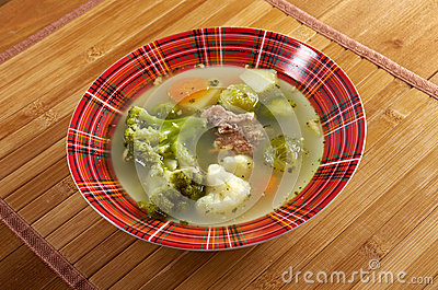 Italian Farm-style Soup With Broccoli Stock Image - Image ...