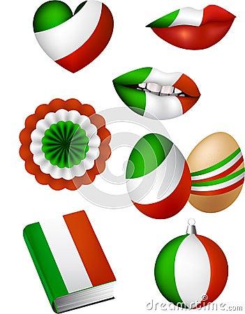 Italian flag elements