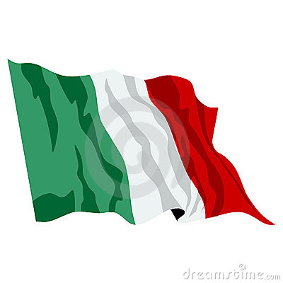 Italian Flag Illustartion