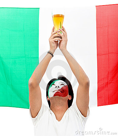 Italian flag portrait