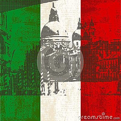 Italian Flag and Venice