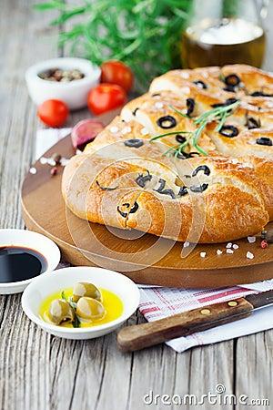 Free Italian Focaccia Bread Royalty Free Stock Image - 53632606