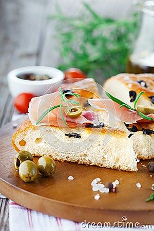 Free Italian Focaccia Bread Stock Photos - 53632643