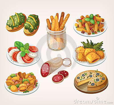 Free Italian Food And Meals. Royalty Free Stock Photo - 50900195