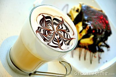 Italian food :cappuccino breakfast