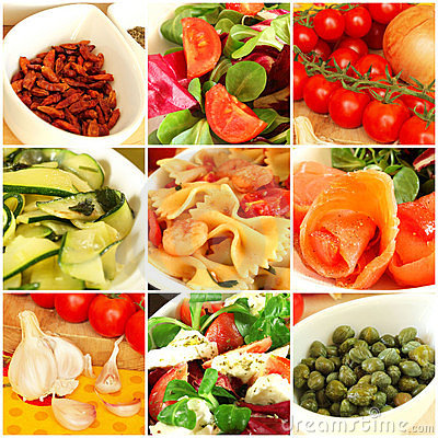 Free Italian Food Collage Royalty Free Stock Photography - 22555637
