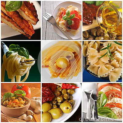 Italian food - collage
