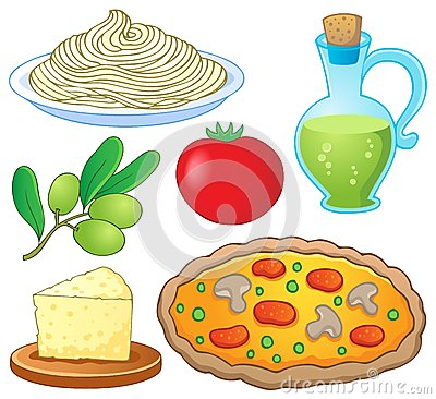 Free Italian Food Collection 1 Royalty Free Stock Photography - 26086217