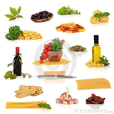 Italian Food Collection Royalty Free Stock Photo - Image: 12521415