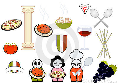 Italian food & cooking icons