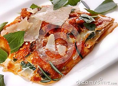 Italian food lasagna