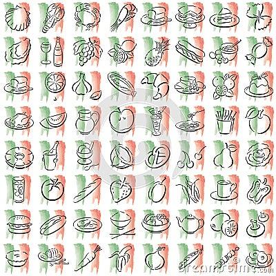 Italian food symbols