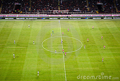 Italian football game AC Milan - Juventus Editorial Photography