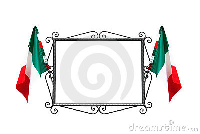 Italian frame with flags