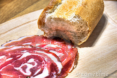 Italian gammon and bread