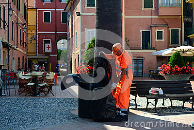 Italian garbage collector Editorial Photo