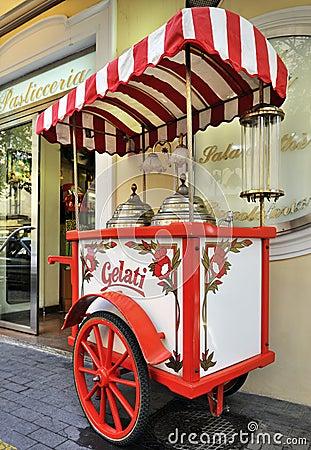 Free Italian Gelati Cart Stock Photo - 9249850