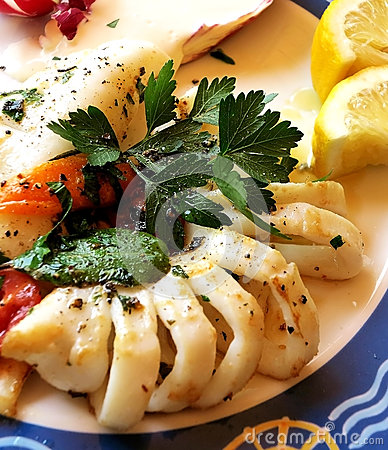 Italian grilled squids