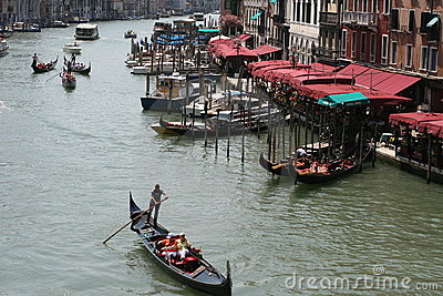 Italian Holidays, Grand Canal in Venice Editorial Photo