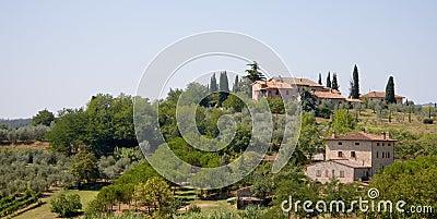 Italian houses on hillside