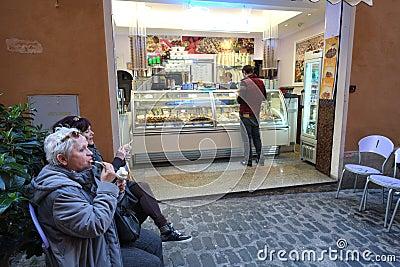 Italian ice cream shop Editorial Stock Image