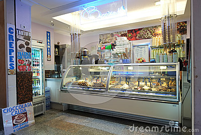 Italian ice cream shop Editorial Stock Photo