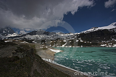 Italian iced lake