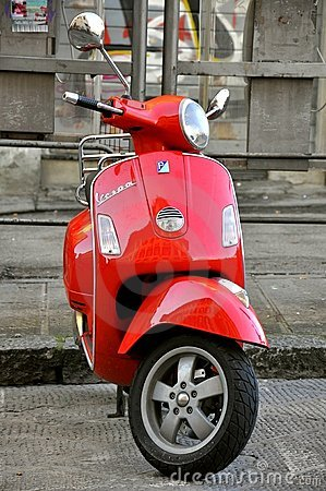 Italian icon: Vespa scooter  Editorial Stock Photo