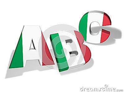 Abc Italian School Concept