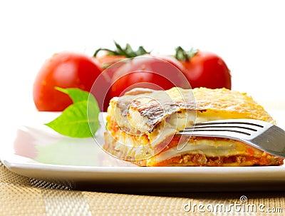Italian lasagna dish
