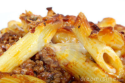 Italian lasagne, mince meat with pasta cheese sauce